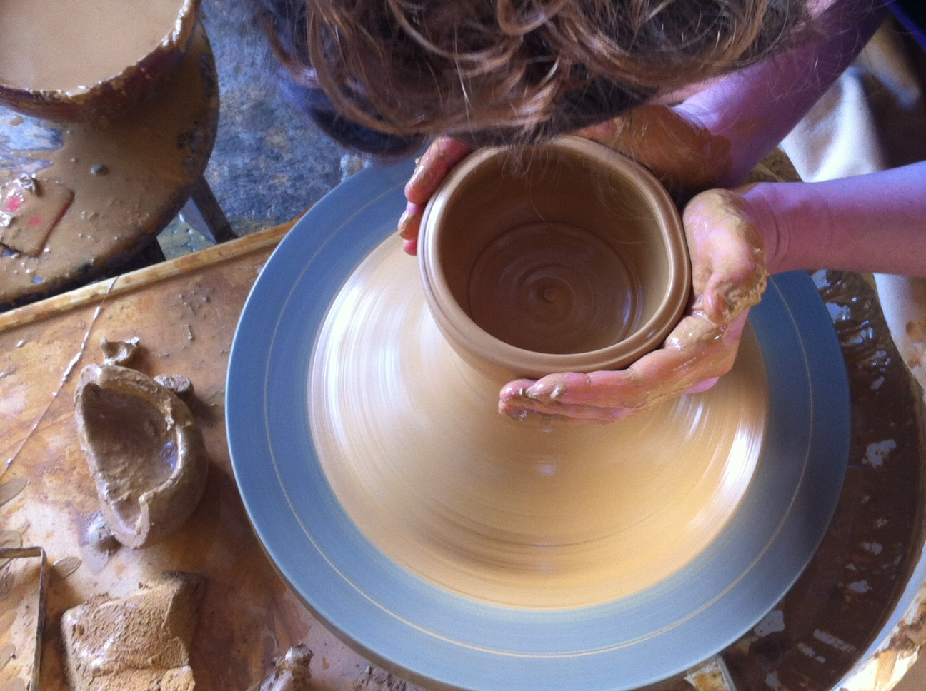 pottery at San Antonio Womens' group