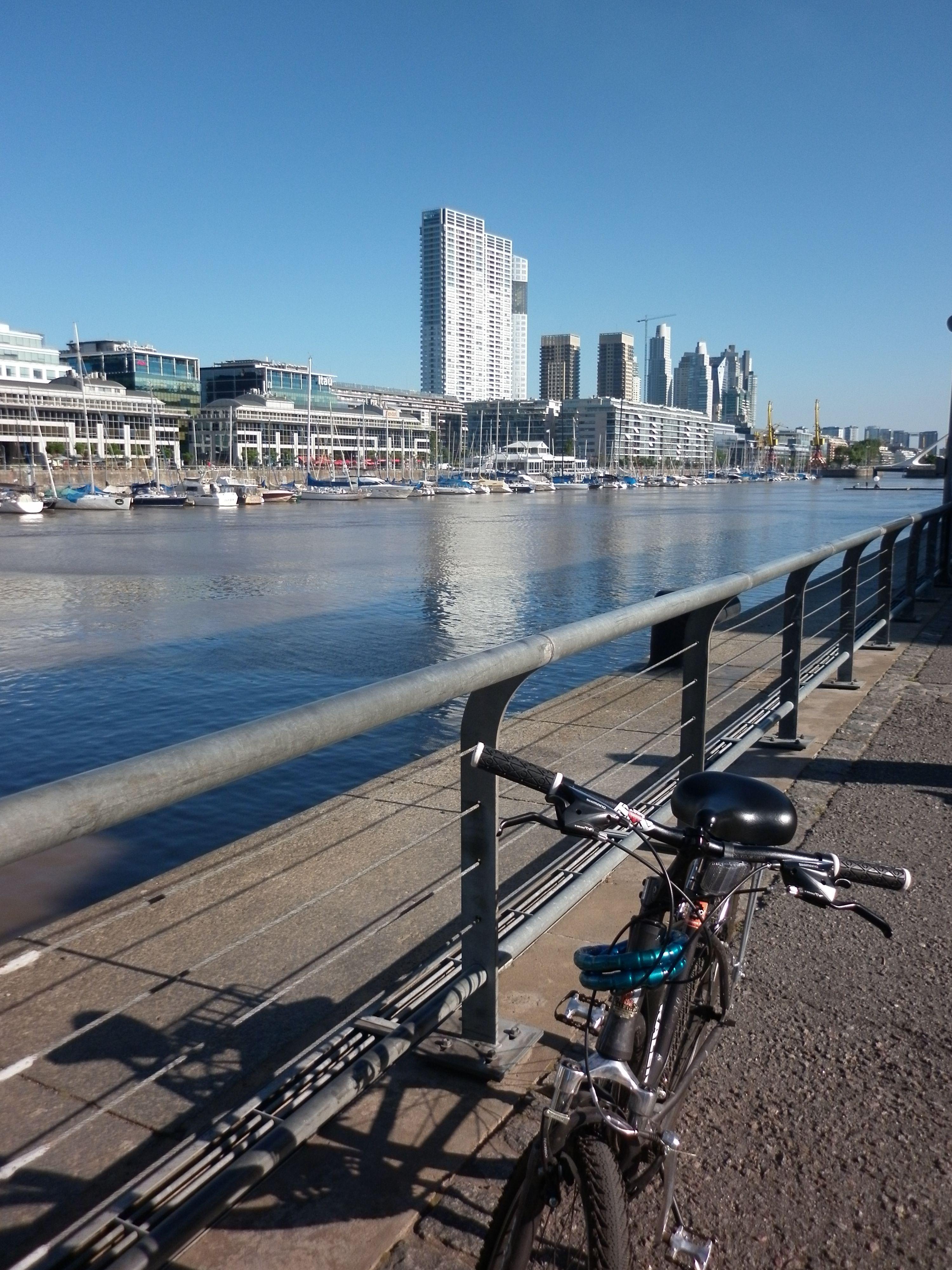 biking on the port