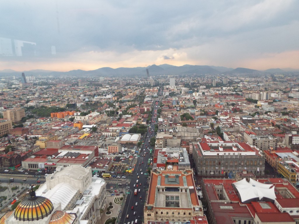 view from Torre Latinoamericana lydia carey