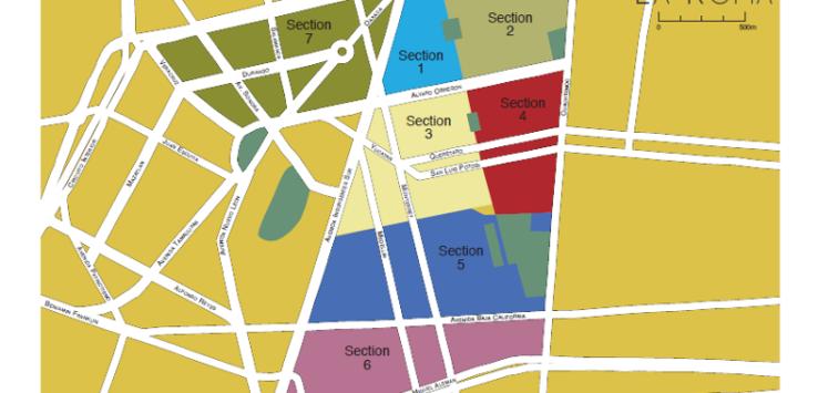 map of La Roma Mexico City